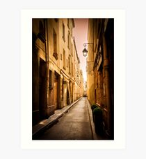 Alleyways of Paris, France Art Print