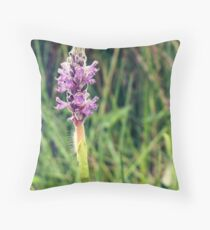 Purple Pickerel Weed Throw Pillow