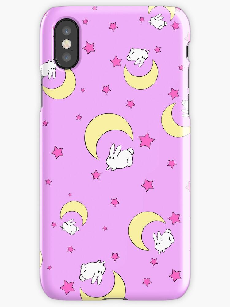 Tsukino Usagi Bed Sheet iPhone Case by Oshiokiyo