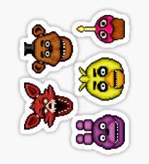 Five Nights at Freddy's - Pixel art - Classics Sticker pack Sticker