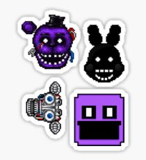 Five Nights at Freddy's 2 - Pixel art - Various Characters Sticker pack 3 Sticker