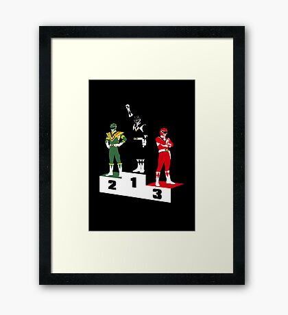 Black Ranger Power Framed Print