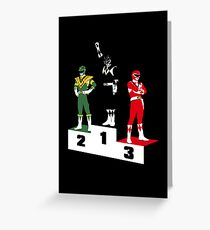 Black Ranger Power Greeting Card