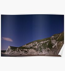 Starry night at Durdle Door Poster