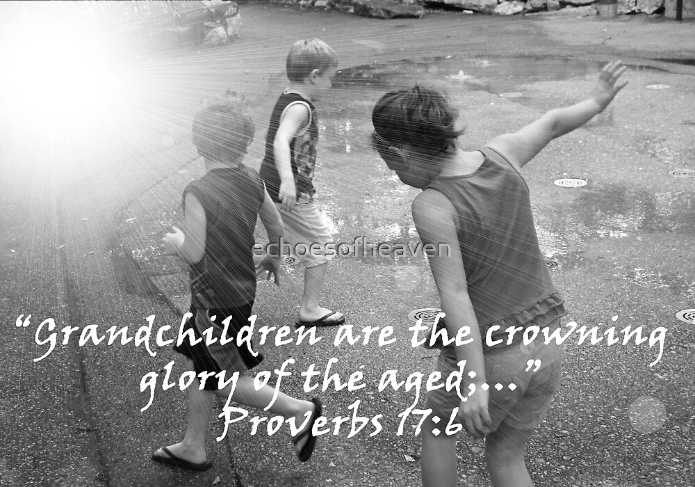 """""""Proverbs 17:6""""  by Carter L. Shepard by echoesofheaven"""