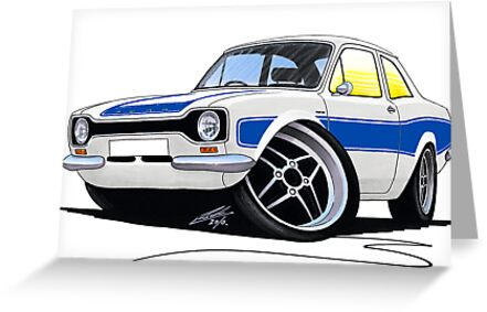 Ford Escort (Mk1) RS2000 White by yeomanscarart