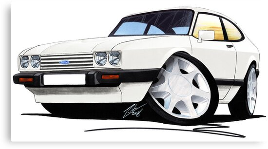 Ford Capri (Mk3) White by yeomanscarart