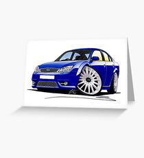 Ford Mondeo ST 220 Blue Greeting Card