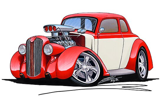 1936 Plymouth Coupe (A) Red by yeomanscarart