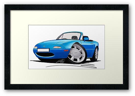 Mazda MX5 (Mk1) Blue by yeomanscarart