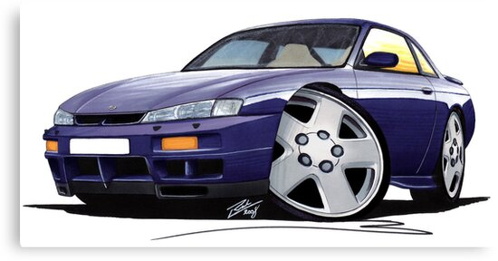 Nissan 200SX S14 Purple by yeomanscarart