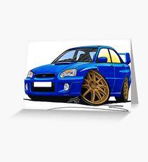 Subaru Impreza (2003-06) Blue Greeting Card