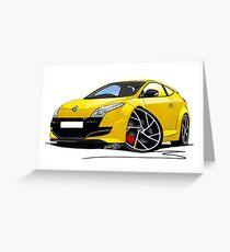 RenaultSport Megane 250 Yellow Greeting Card