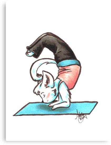 Yoga Kitty by Ashley Weiler