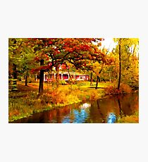 House on Pine River,Wisconsin U.S.A. Photographic Print