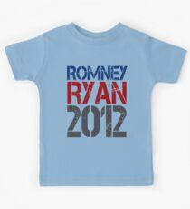 Romney Ryan 2012, Bold Grunge Design Kids Tee