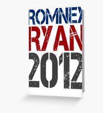 Romney Ryan 2012, Bold Grunge Design Greeting Card