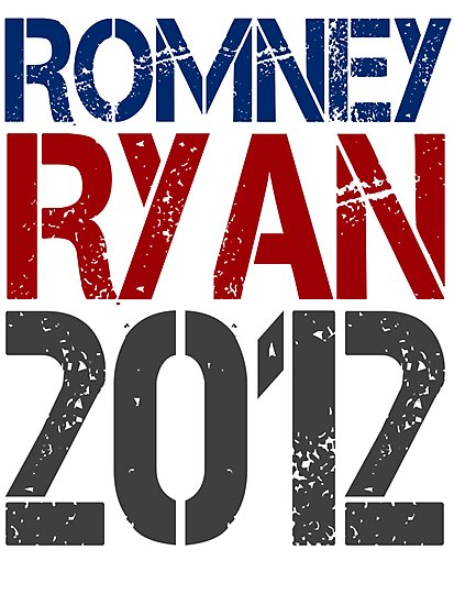 Romney Ryan 2012, Bold Grunge Design by CuteNComfy