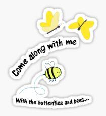 Butterflies and Bees Sticker