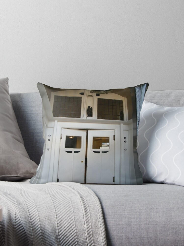 Doors Glasgow School Of Art Throw Pillows By Elst Redbubble