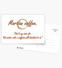 Martian Coffee Postcards