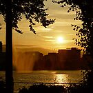Hamburg's Alster at sunset by Chrissy Edye
