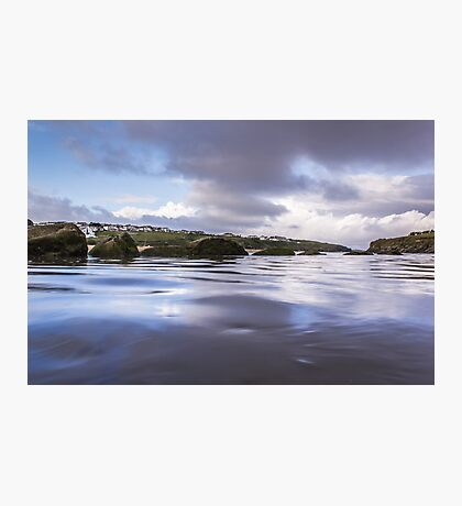 High Tide at Porth Beach Photographic Print