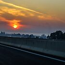Sunrise on Highway by paluch