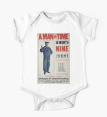A man in time is worth nine 0001 Kids Clothes