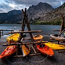 Kayaks at Silver Lake  by Cat Connor