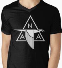 North American Aviation Logo (White) Men's V-Neck T-Shirt