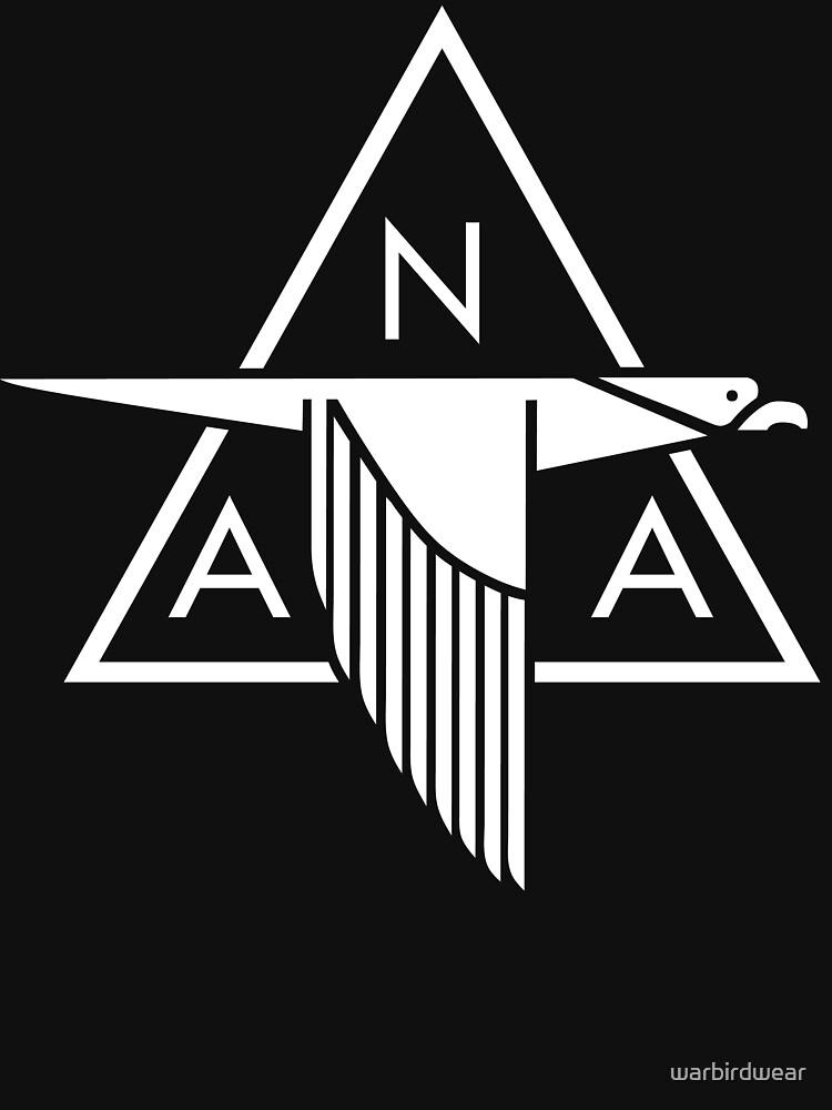 North American Aviation Logo (White) by warbirdwear