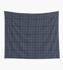 Drums of Autumn Inspired Plaid w Gold Stag Wall Tapestry