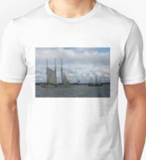 Tall Ships Sailing in the Harbor Unisex T-Shirt