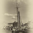 In the harbour old style by Mark Bunning