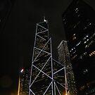 Hong Kong at Night by jeffreynelsd