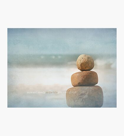 you are my rock Photographic Print