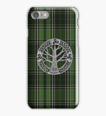 Voyager Inspired Plaid w Silver Tree Broach iPhone Case/Skin