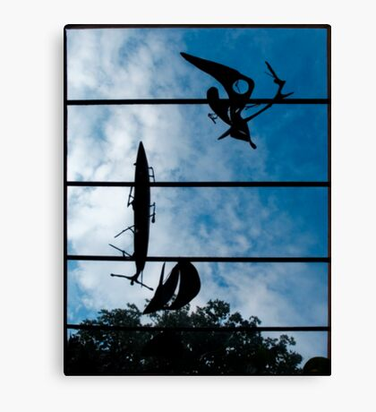 Skyboat Silhouette Canvas Print