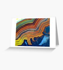 Waves (Lace Agate) Greeting Card