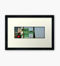 Yawkey Way Street Sign, Fenway Park Framed Print