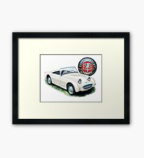 Austin Healey Bugeye Sprite in White Framed Print