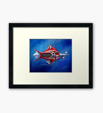 Screwy Fish Framed Print