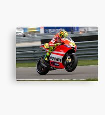 Valentino Rossi in Assen 2011 Canvas Print