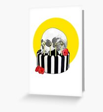 skull cake Greeting Card