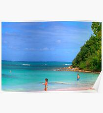 Beach in Antigua Poster