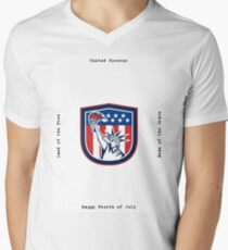 Independence Day Greeting Card-Statue of Liberty Holding Torch Mens V-Neck T-Shirt