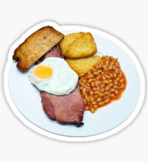 Gammon Egg and Beans Sticker