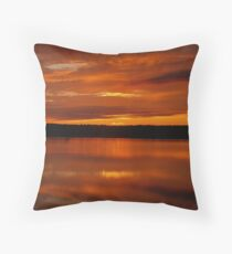 Sunset on the Mersey Throw Pillow