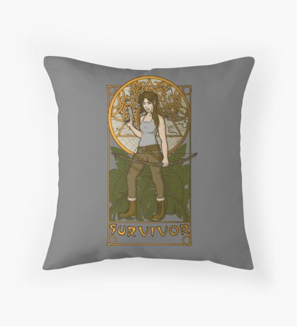 Survivor. Throw Pillow